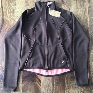 Nike Brown Pink Reversible Long Sleeve Jacket